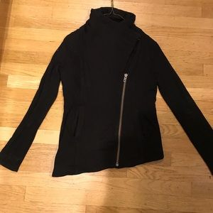 Helmut Lang black zip up sweater. Size Small